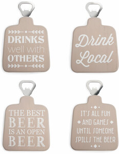 "Drinks Well by Man Crafted - 5.5"" Bottle Opener Coasters"