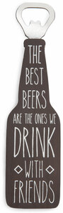 "Drink With Friends by Man Crafted - 7"" Bottle Opener Magnet"