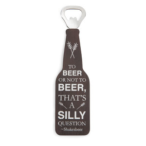 "To Beer or Not by Man Crafted - 7"" Bottle Opener Magnet"