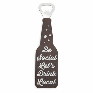 "Be Social by Man Crafted - 7"" Bottle Opener Magnet"