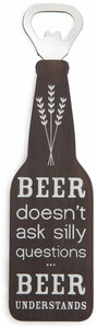 "Beer Understands by Man Crafted - 7"" Bottle Opener Magnet"