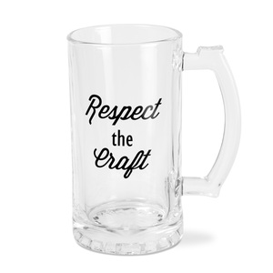 Respect by Man Crafted - 16 oz Beer Stein