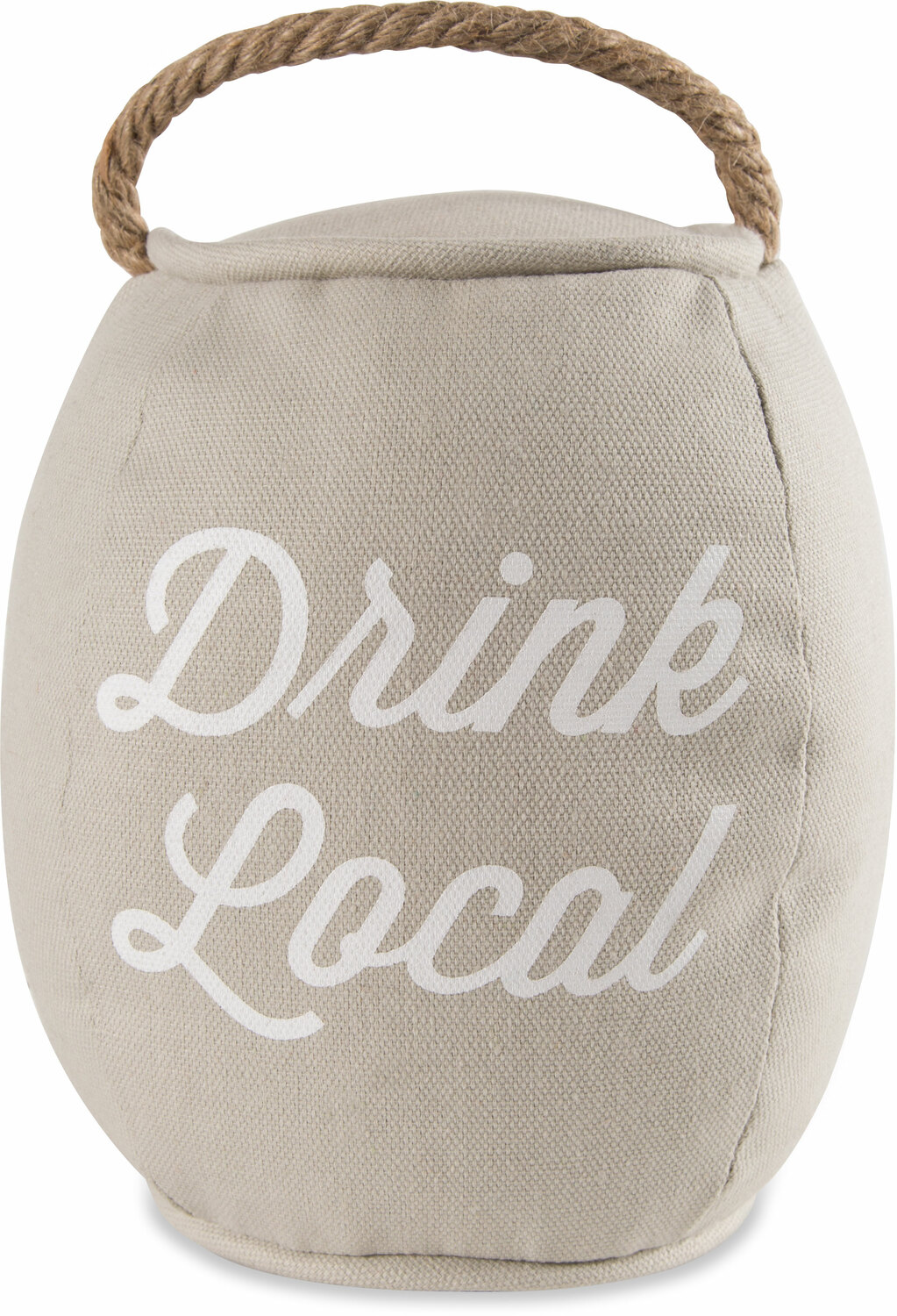 "Drink Local by Man Crafted - Drink Local - 8"" Barrel Door Stopper"
