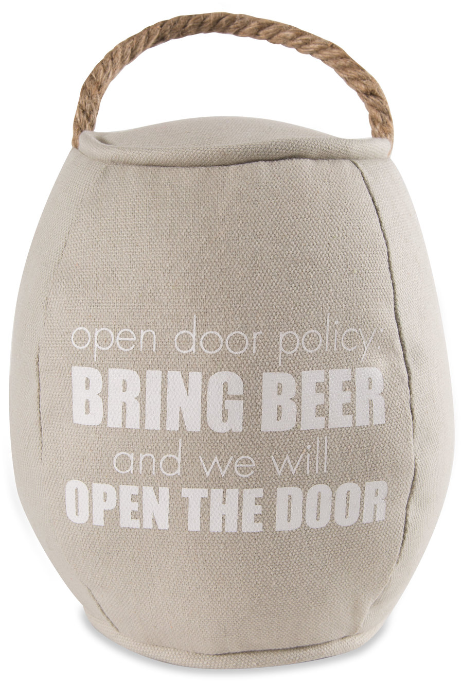 "Bring Beer by Man Crafted - Bring Beer - 8"" Barrel Door Stopper"