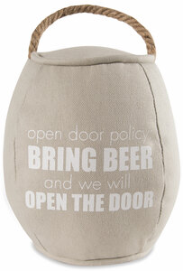 "Bring Beer by Man Crafted - 8"" Barrel Door Stopper"