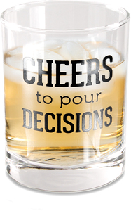 Pour Decisions by Man Crafted - 11 oz Rocks Glass