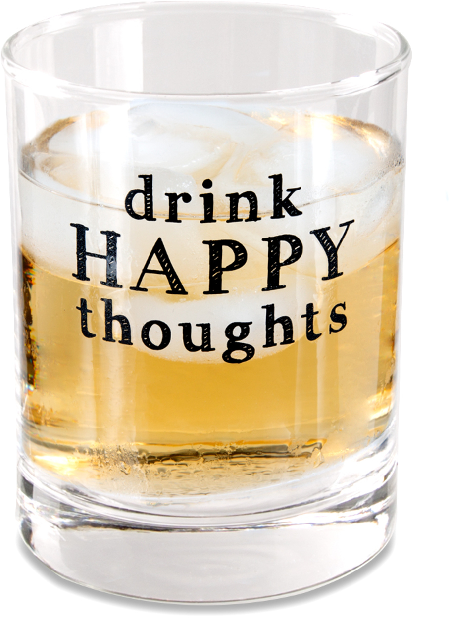 Drink Happy by Man Crafted - Drink Happy - 11 oz Rocks Glass
