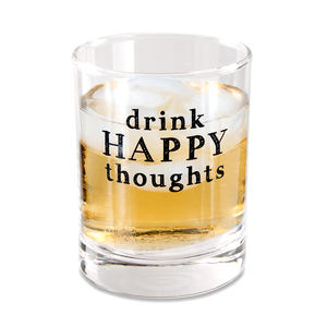 Drink Happy by Man Crafted - 11 oz Rocks Glass