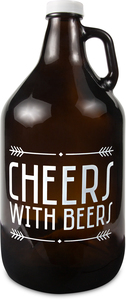 Cheers by Man Crafted - 64 oz Glass Growler