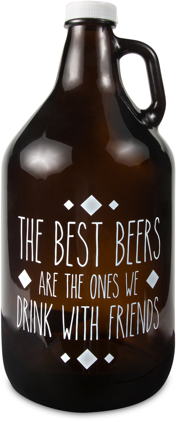 Drink with Friends by Man Crafted - Drink with Friends - 64 oz Glass Growler