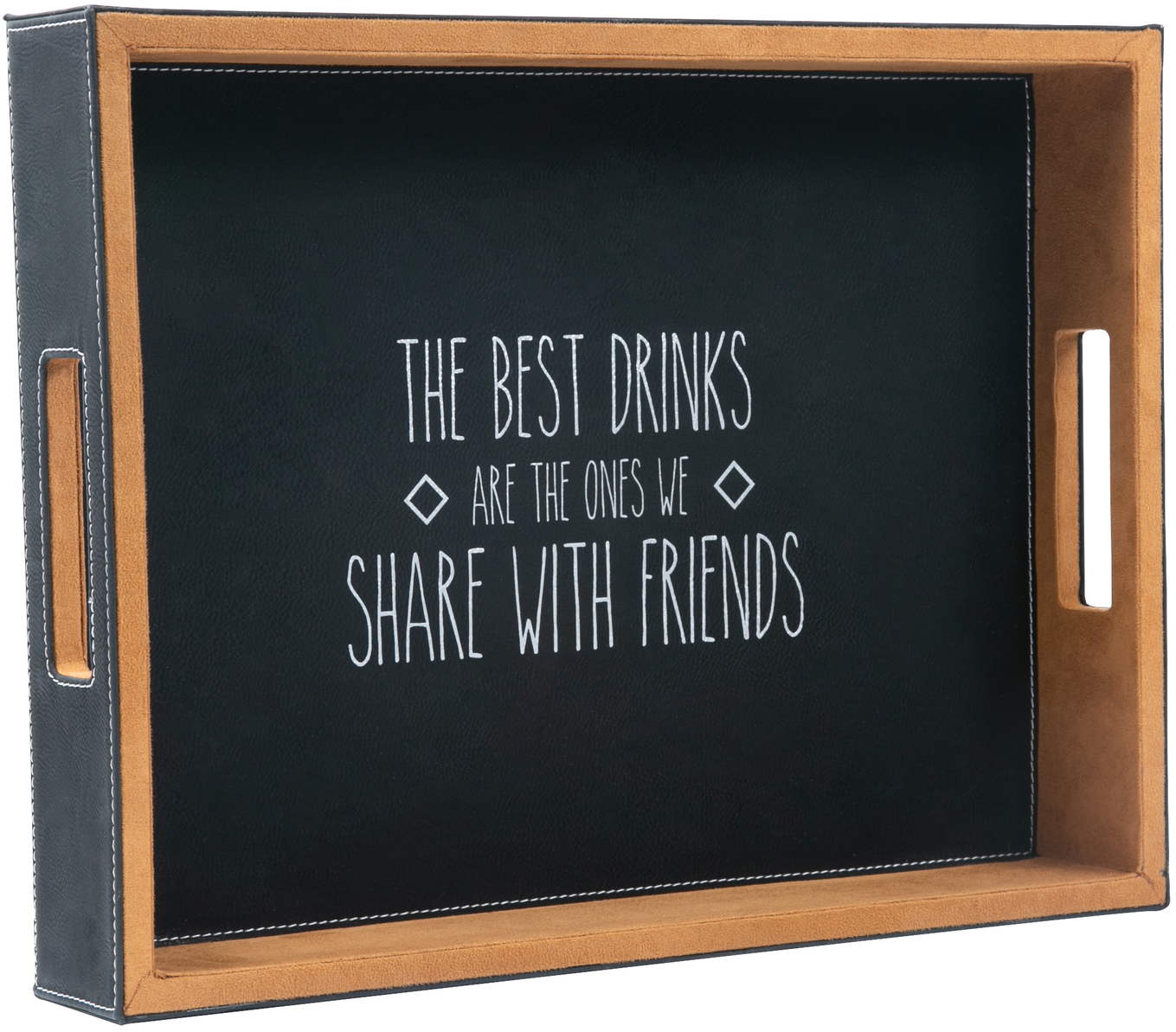 "Best Drinks by Man Crafted - Best Drinks - 16"" x 12"" PU Leather Tray"