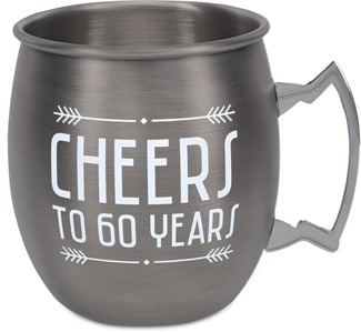 60 Years by Man Crafted - 20 oz Stainless Steel Moscow Mule