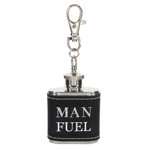 Man Fuel by Man Crafted - PU Leather & Stainless Steel 1 oz Mini Flask