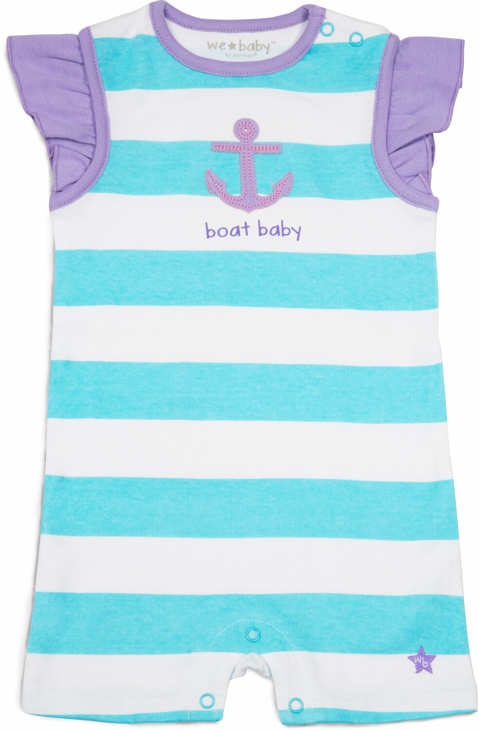 Boat Baby by We Baby - Boat Baby - 6-12 Month Girl Romper