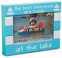 "Lake Baby by We Baby - 7.5"" x 6"" Frame (holds 4"" x 6"" photo)"