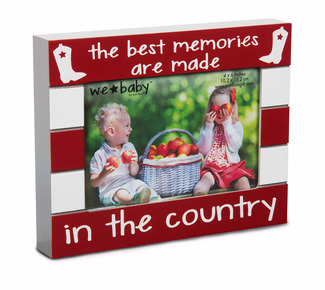 "Country Baby by We Baby - 7.5"" x 6"" Frame (holds 4"" x 6"" photo)"