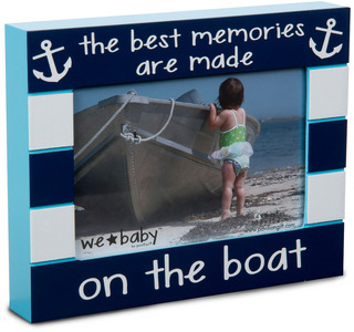 "Boat Baby by We Baby - 7.5"" x 6"" Frame (holds 4"" x 6"" photo)"