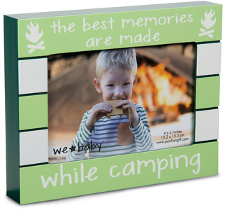 "Camping Baby by We Baby - 7.5"" x 6"" Frame (holds 4"" x 6"" photo)"