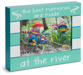 "River by We Baby - 7.5"" x 6"" Frame (Holds 4"" x 6"" Photo)"