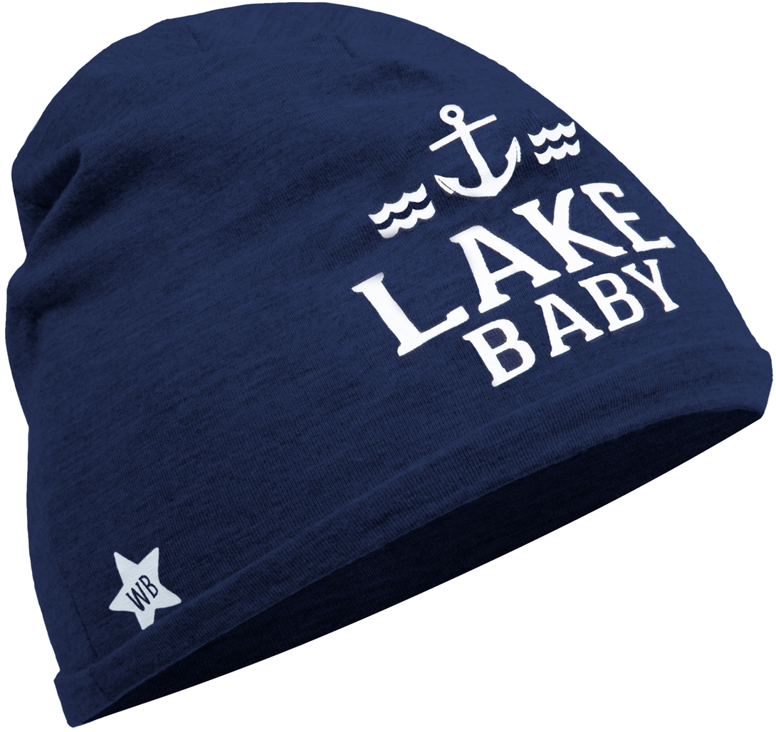 Lake by We Baby - Lake - Navy Beanie (0-12 Months)