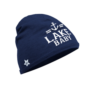 Lake by We Baby - Navy Beanie (0-12 Months)