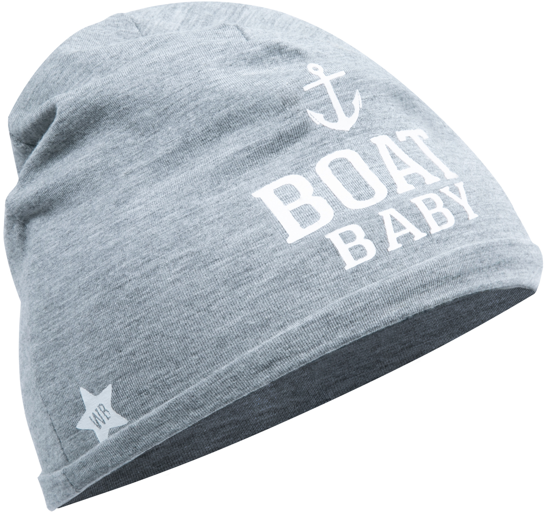Boat by We Baby - Boat - Heathered Gray  Beanie (0-12 Months)