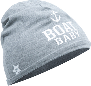 Boat by We Baby - Heathered Gray  Beanie (0-12 Months)