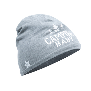 Camping by We Baby - Heathered Gray  Beanie (0-12 Months)