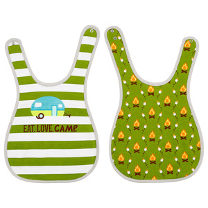 Campfire and Mallows by We Baby - Reversible Bib (6M - 3 Years)