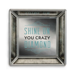 "Shine On by Pretty Inappropriate - 4"" Mirrored Tray"