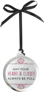 "Full Heart by Pretty Inappropriate - 3.25"" Mirrored Ornament"