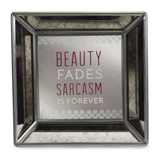 "Beauty by Pretty Inappropriate - 5"" Mirrored Easel Back Plaque"