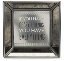 "Friends by Pretty Inappropriate - 5"" Mirrored Easel Back Plaque"
