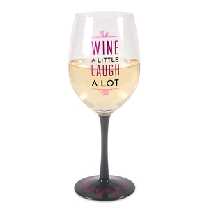 Wine A Little by Pretty Inappropriate - 12 oz Wine Glass Tea Light Holder