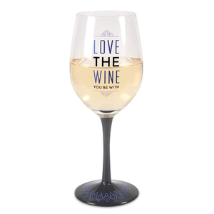 Love Wine by Pretty Inappropriate - 12 oz Wine Glass Tea Light Holder