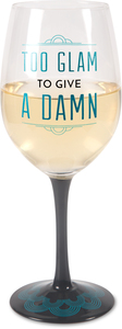 Too Glam by Pretty Inappropriate - 12 oz Wine Glass Tea Light Holder