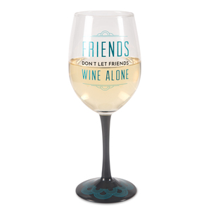 Wine Alone by Pretty Inappropriate - 12 oz Wine Glass Tea Light Holder