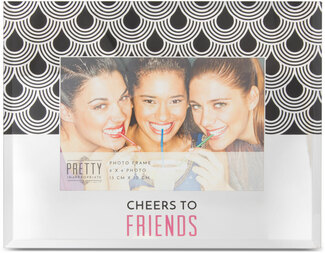 "Cheers by Pretty Inappropriate - 9"" x 7"" Mirror Frame (Holds a 6"" x 4"" Photo)"