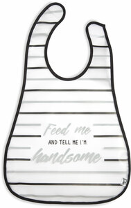 Handsome by Sidewalk Talk - Waterproof Bib