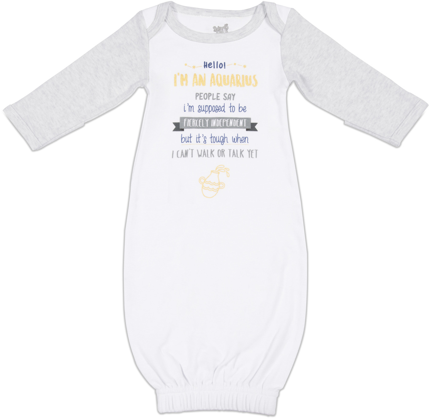 Aquarius by Sidewalk Talk - Aquarius - 0-3 Months Gown with Mitten Cuffs