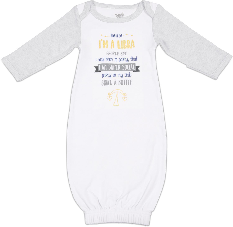 b6015e84e Libra, 0-3 Months Gown with Mitten Cuffs - Sidewalk Talk - Pavilion