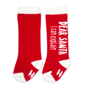 Dear Santa by Sidewalk Talk - 0-12 Months Baby Knee Highs