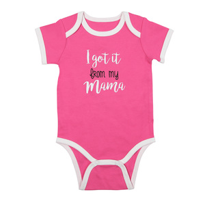 From My Mama by Sidewalk Talk - 6-12 Months Pink Bodysuit