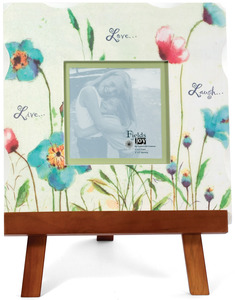 "Live Love Laugh by Fields of Joy - 12""x12"" Blue Frame w/Eas"