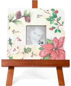 "Holiday Floral by Fields of Joy - 10""x10"" Frame w/ Easel"