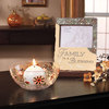 Crackled Glass Candle Holder by Let it Shine - Scene