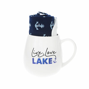 Lake by Warm & Toe-sty - 15.5 oz Mug and Sock Set