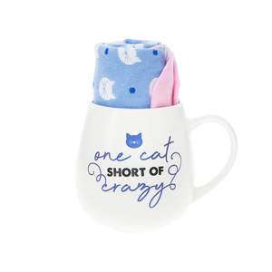 Cat by Warm & Toe-sty - 15.5 oz Mug and Sock Set