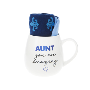 Aunt by Warm & Toe-sty - 15.5 oz Mug and Sock Set