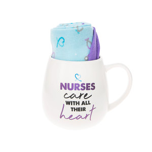 Nurse by Warm & Toe-sty - 15.5 oz Mug and Sock Set